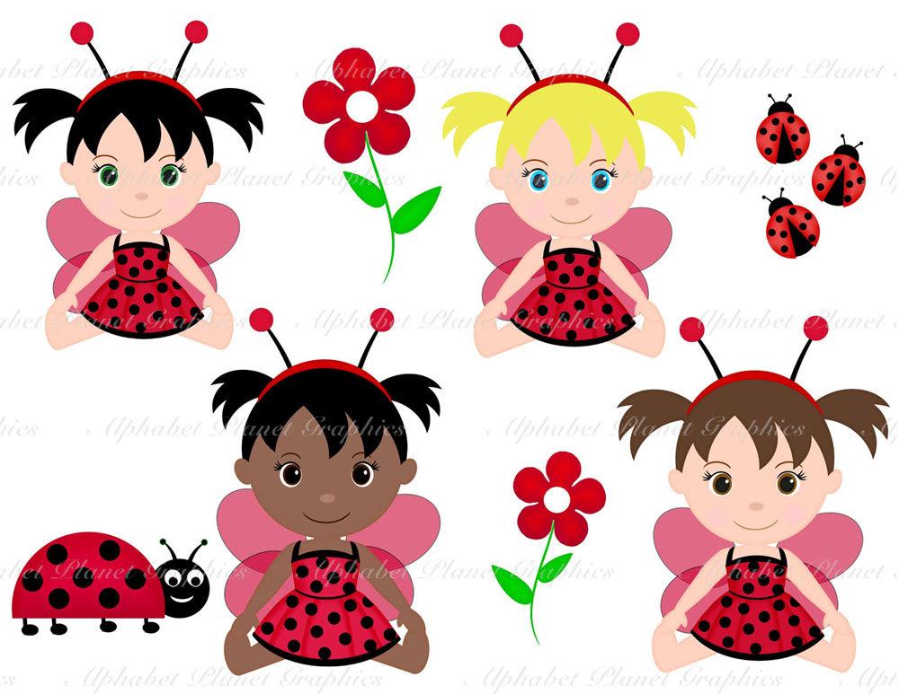 Bug clipart baby Bug personal clipart girl Ladybug