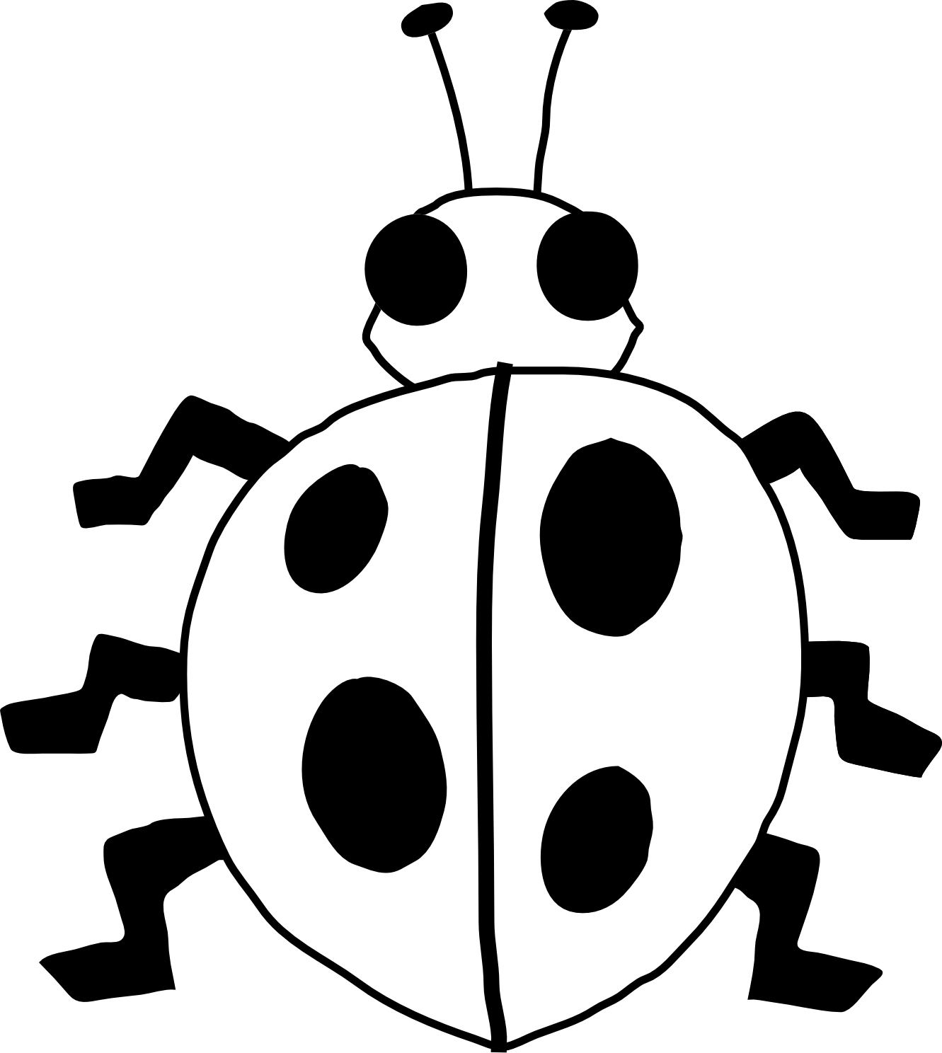 Lady Beetle clipart black and white Panda Clip ladybug%20drawing%20black%20and%20white Art And