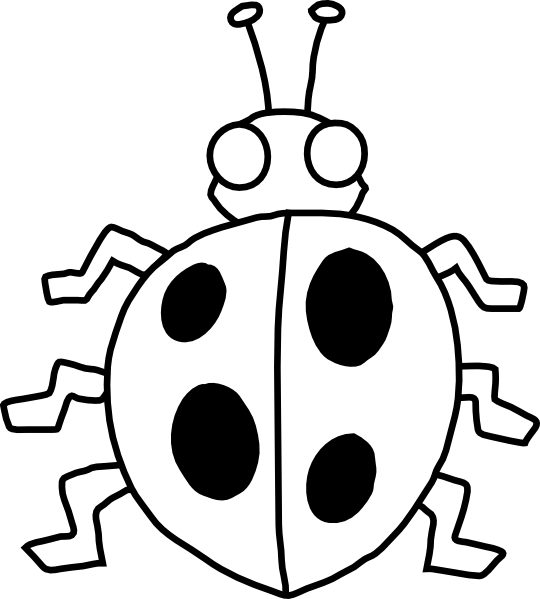 Monochrome clipart insect #5