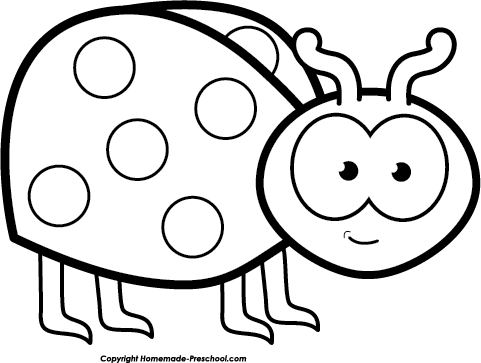 Lady Beetle clipart black and white Black clipart Ladybug black Flying