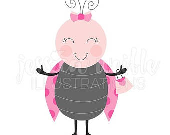 Lady Beetle clipart cute button Cute Graphic Ladybug Bug SALE