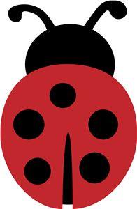 Simple clipart ladybug #7