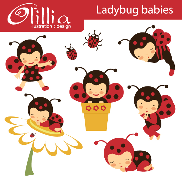 Bug clipart baby Creative for bugs crafts Lady