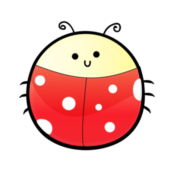 Lady Beetle clipart cute smile Clip art Cliparting lady art