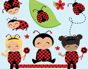 Lady Beetle clipart cute smile Clipart Bug baby Etsy clipart
