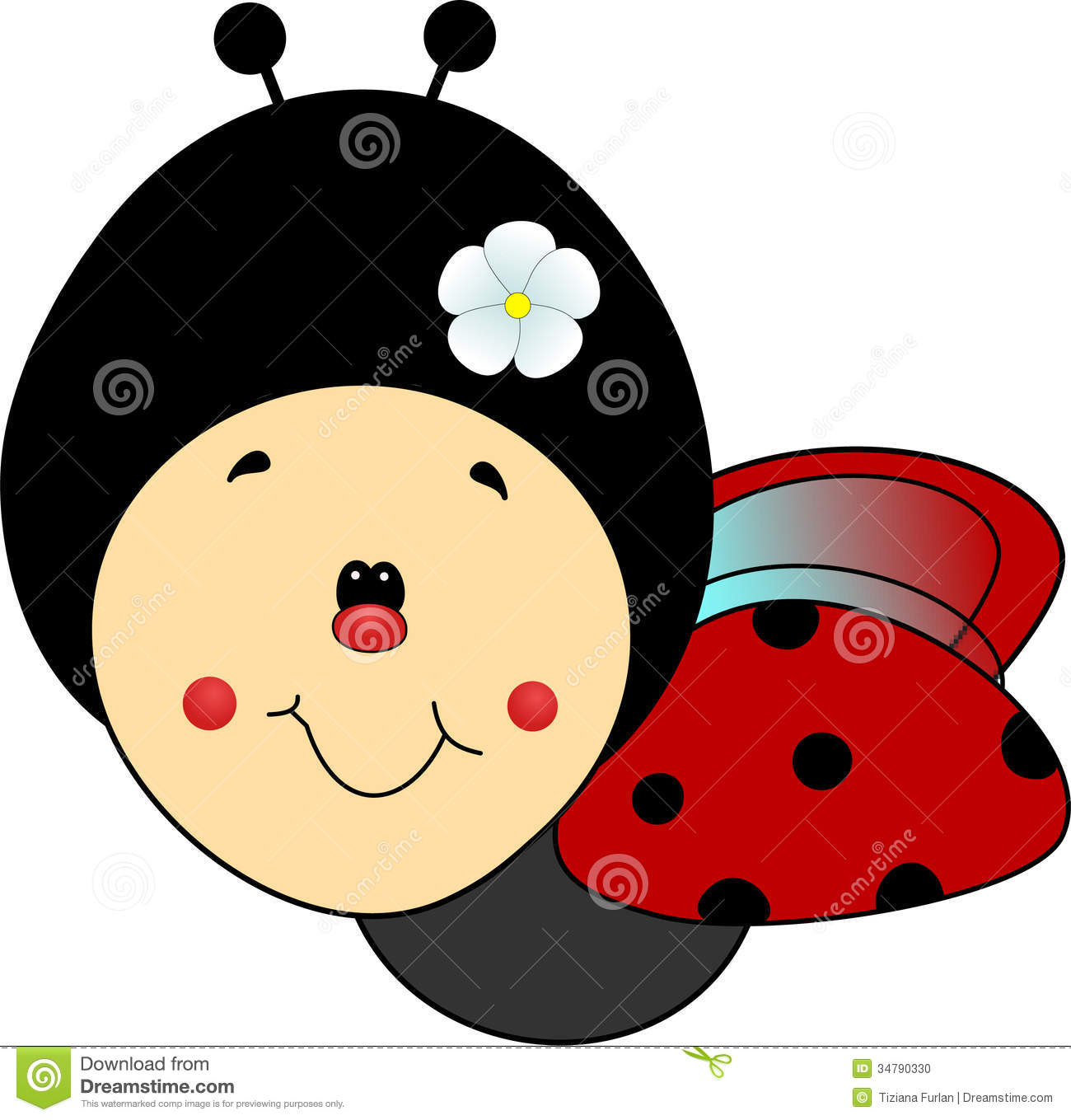 Lady Beetle clipart cute smile Ladybug Clipart Images Flying Clipart
