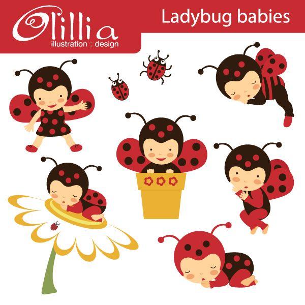 Lady Beetle clipart cute thing Images best Pinterest Buburuza on