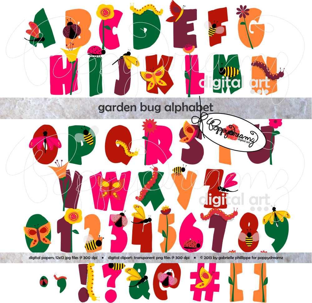 Letter clipart ladybug Garden Lady Clip Bug Art