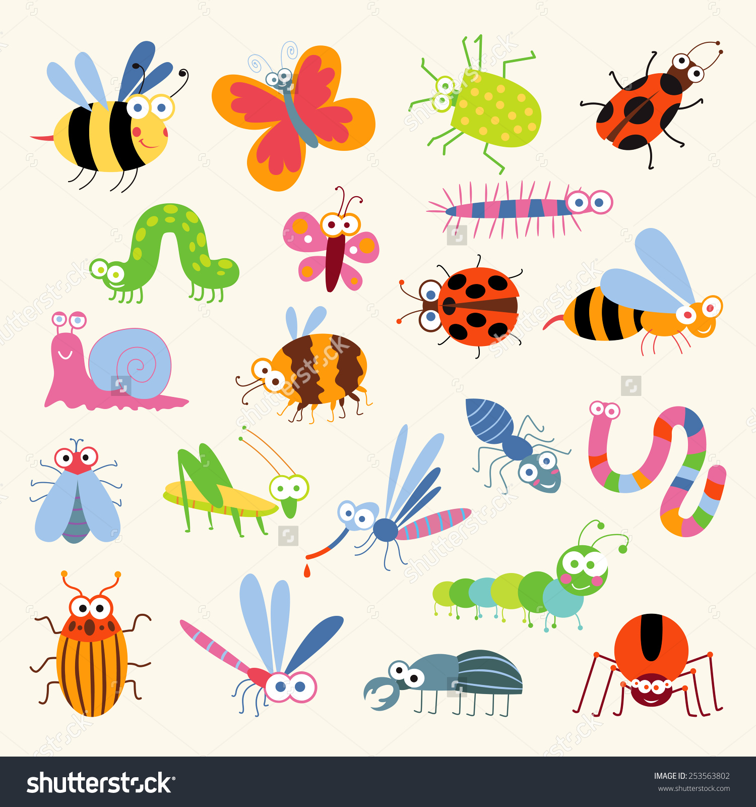 Ant clipart snail Isolated background funny white on