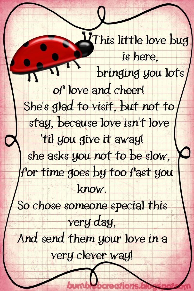 Lady Beetle clipart love bug Pinterest Love  Poem Love+Bug+Poem