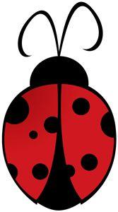 Lady Beetle clipart love bug Appliques BugsSilhouette Decoracion Pinterest Clipart