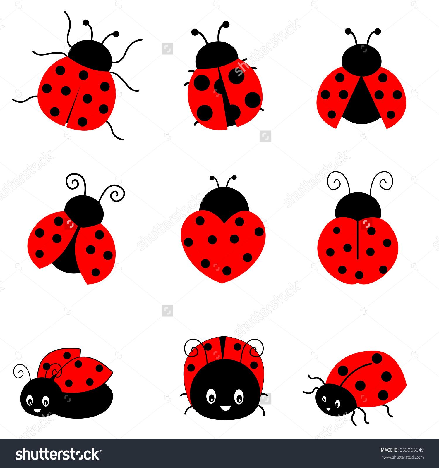Simple clipart ladybug #2