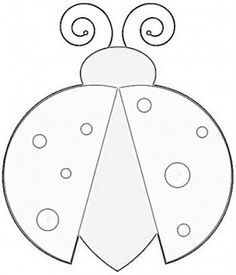 Drawn bugs template Bug Clipart Template quilting Ladybug