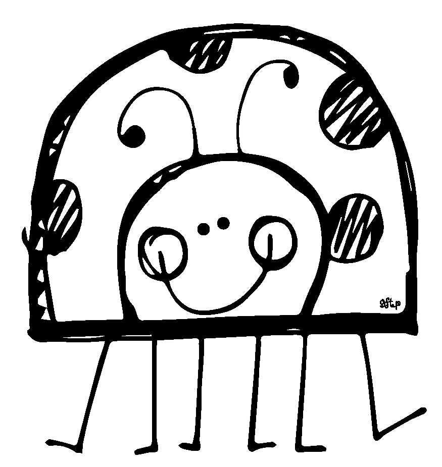 Lady Beetle clipart outline Clipart ladybug collection and Ladybug