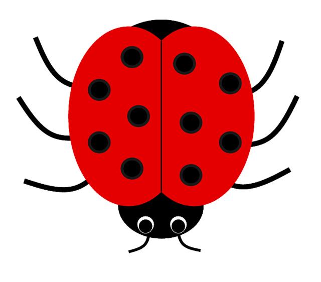 Number clipart ladybug #2