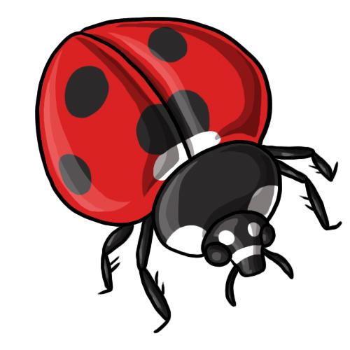 Number clipart cartoon Ladybug and Drawings Ladybug Art