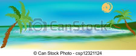 Lagoon clipart  summer Sea csp12321124 Romantic