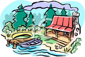 Cottage clipart lake cabin Lake Cabin  Clipart