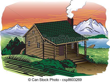 Cabin clipart lake cabin Cabins  Clipart On Lake