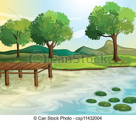 Scenery clipart lake #4