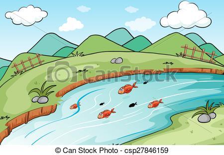 Scenery clipart lake #10