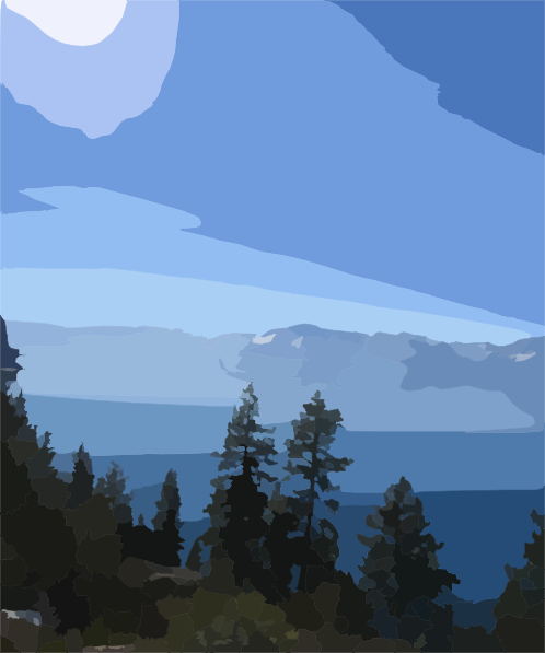 Lake Tahoe clipart Lake Tahoe Silhouette Clip art Download as: