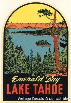 Lake Tahoe clipart Vintage Art Free Lake Lake