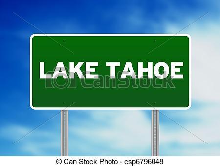 Lake Tahoe clipart Sign Highway  Sign Lake