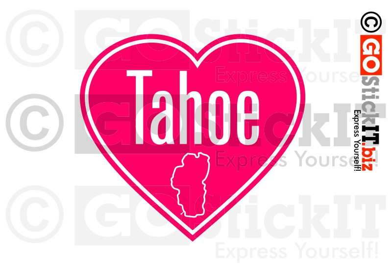 Lake Tahoe clipart Lake Tahoe Silhouette Vinyl Decal  Lake helmet