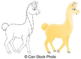 Lama clipart EPS white Color Lama and