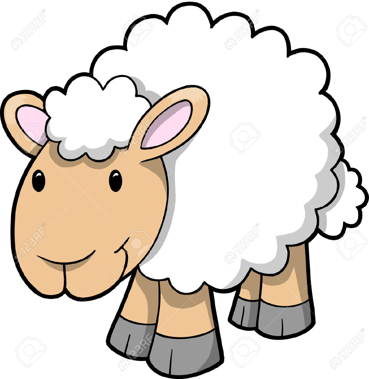 Sheep clipart cartoon #1