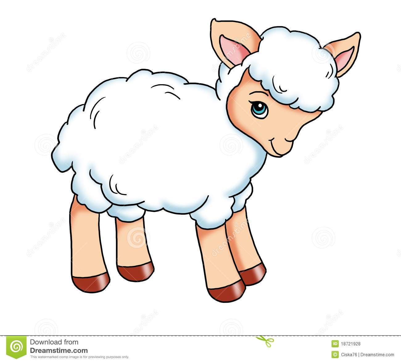 Sheep clipart animated #3