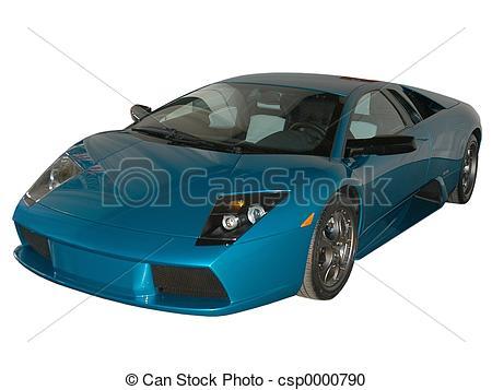 Lamborghini clipart bmw car Stock white csp0000790 of fast