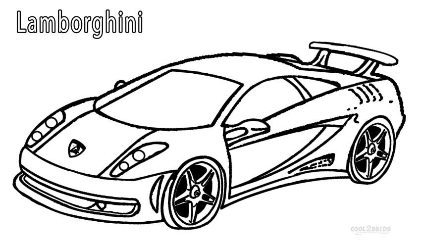 Lamborghini clipart colouring page Colouring For Kids Printable Free