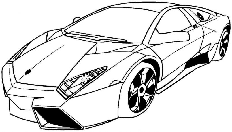 Lamborghini clipart colouring page Kids Craft Coloring Kids For