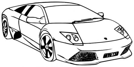 Lamborghini clipart colouring page Preschool Coloring Pages coloring showchina