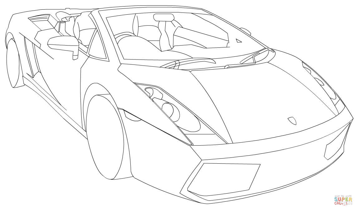 Lamborghini clipart colouring page Pages LP560 page 4 iPad