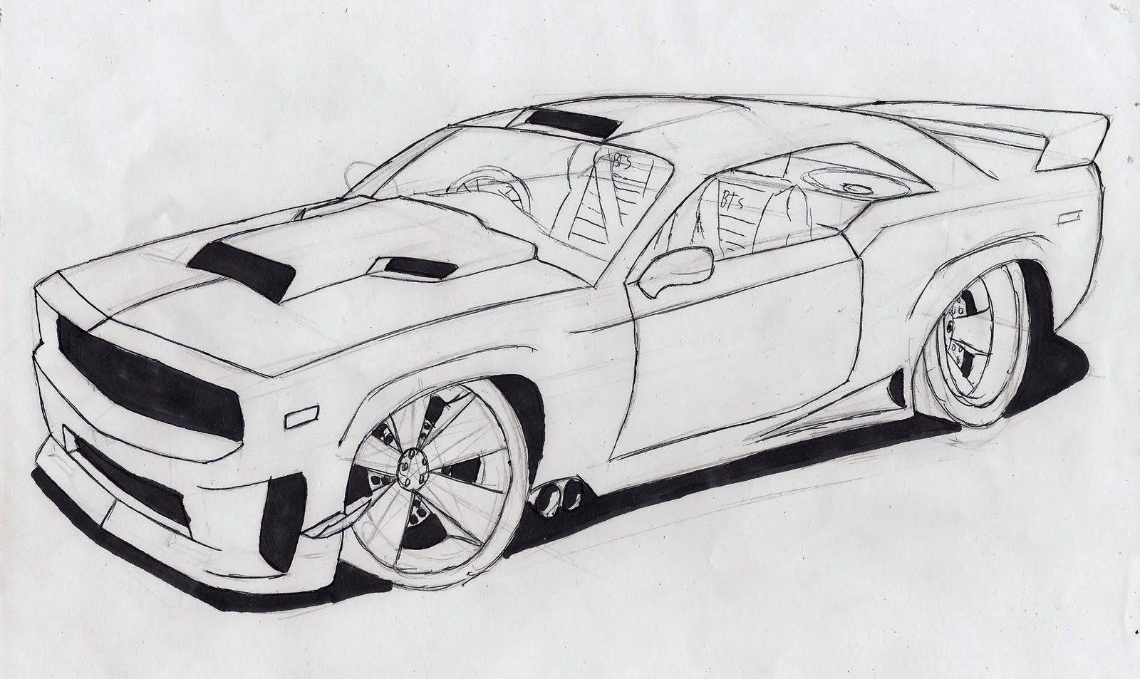 Drawn race car outline Free  Clip Car Car