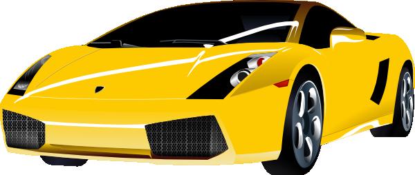 Lamborghini clipart lambo Clker online this  Yellow