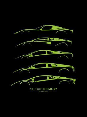 Lamborghini clipart silhouette Series History Continued Lamborghini SilhouetteHistory