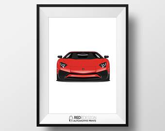 Lamborghini clipart supercar AVENTADOR Exotic SV Drawing Postcard