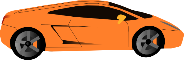Orange clipart sports car At vector online clip art