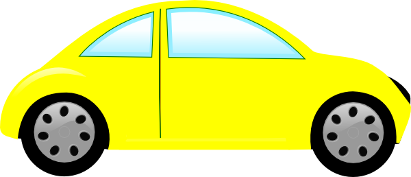 Yellow clipart toy car Image clip vector art online