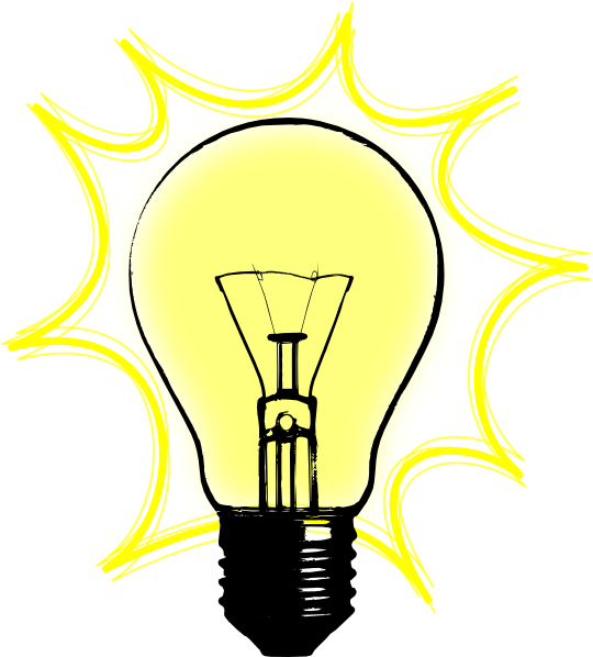 Idea clipart lamp Art  at Download Bulb