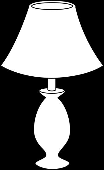 Lamp clipart Panda White Lamp Clipart Black