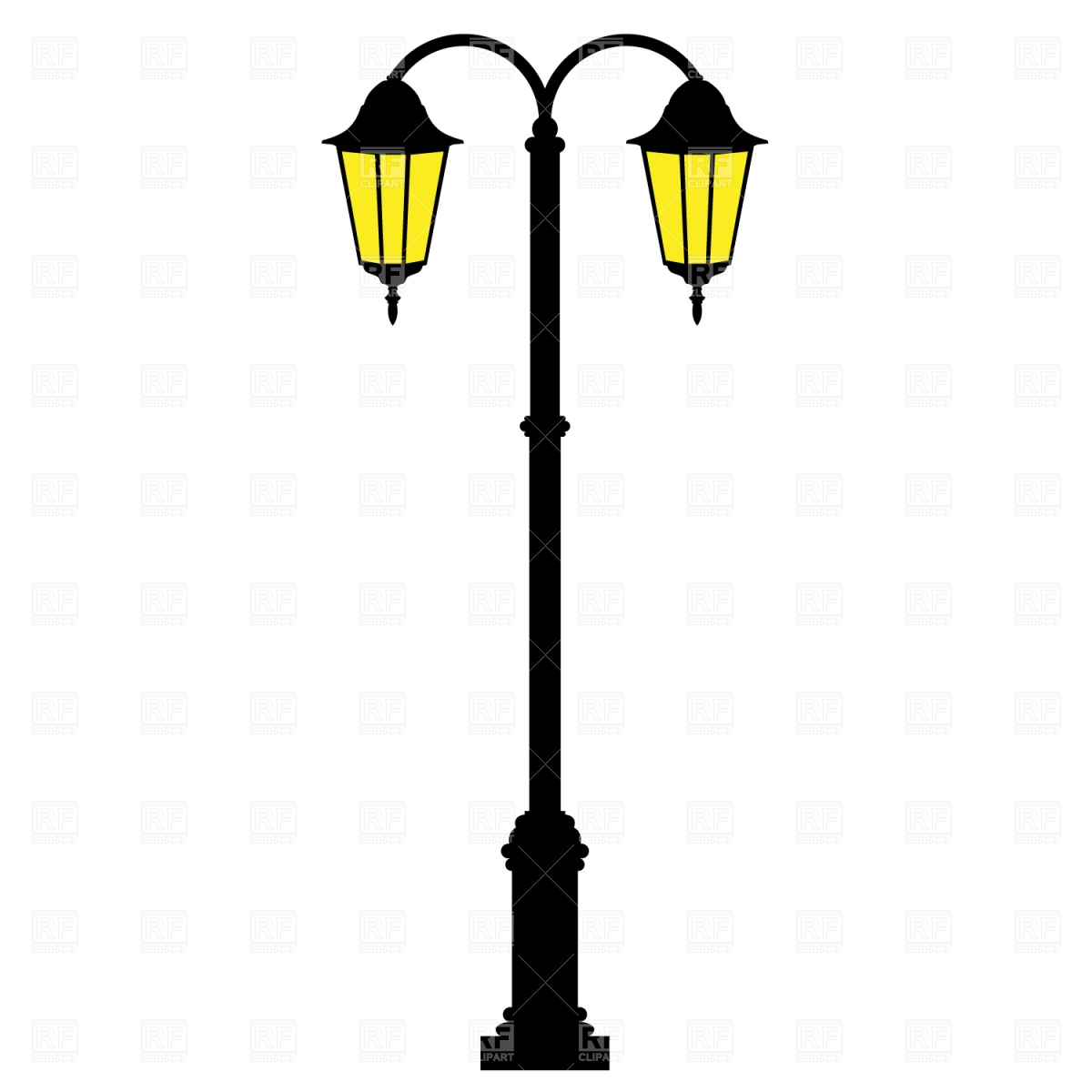 Street Light clipart post  lamp Collection Clipart Clipart