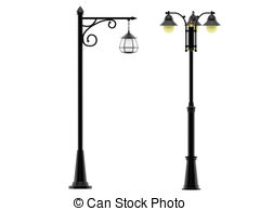 Lamp Post clipart Clipart Illustrations Street vector 1