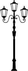 Lamp Post clipart black and white Clipart Old Post Download Lamp
