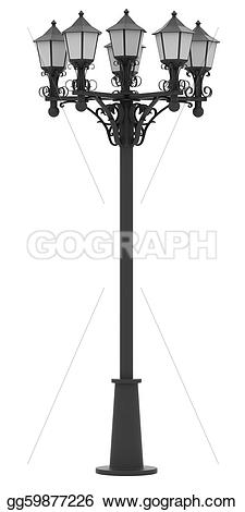 Lamp Post clipart black and white Street Clipart Drawing gg59877226 Drawing