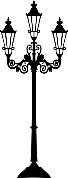 Lamp Post clipart black and white Post  Lamp Clipart Street